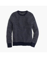 J.Crew | Blue Slim Softspun Sweater In Ditty Stripe for Men | Lyst