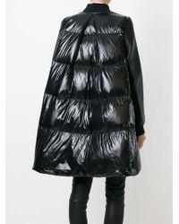 Sacai Luck - Black Oversized Padded Coat - Lyst