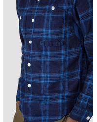 FDMTL - Orange Indigo Check Shirt Indigo for Men - Lyst