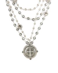Nicole Miller - Metallic Mixed San Benito Magdalena Necklace - Lyst