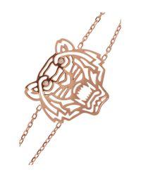 KENZO - Pink Tiger Rose Goldplated Cubic Zirconia Bracelet - Lyst