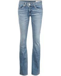 Rag & Bone - Blue Flared Jeans - Lyst