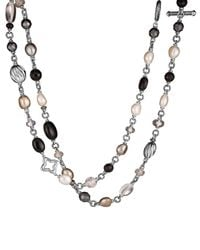 David Yurman | Metallic Bead Necklace With Black Onyx And Crystal | Lyst