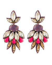 Deepa Gurnani | Purple Imperial Garden Flower Drop Earring | Lyst