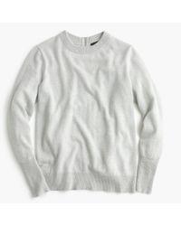J.Crew | Gray Italian Cashmere Back-zip Tunic Sweater | Lyst