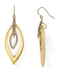 Alexis Bittar | Metallic Lucite Crystal Pave Marquis Orbital Earrings | Lyst