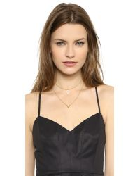 Noir Jewelry | Metallic Willoughby Necklace - Gold/Clear | Lyst