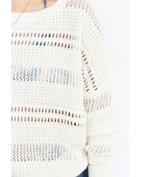 Kimchi Blue - White Brodie Open-stitch Sweater - Lyst