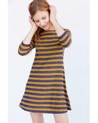 BDG - Boat Striped Blue Swing Dress - Lyst