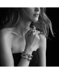 David Yurman | Metallic Waverly Bracelet with Diamonds | Lyst