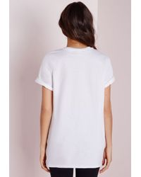 Missguided - Queen Bae Slogan T Shirt White - Lyst