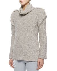 IRO - Natural Cliffe Long-sleeve Nubby Sweater - Lyst