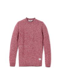 Penfield | Gering Melange 2tone Jumper - Red for Men | Lyst