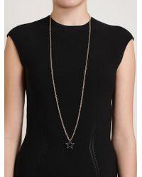 Rosa De La Cruz - Metallic Diamond Star Pendant Necklace - Lyst