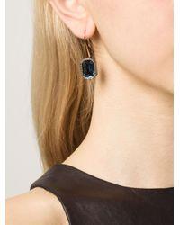 Rebecca - Blue 'Elizabeth' Earrings - Lyst