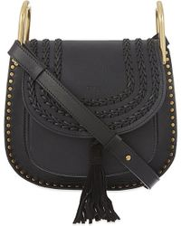 Chloé | Black Hudson Small Leather Shoulder Bag | Lyst
