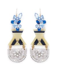 Lulu Frost - Blue '100 Year Vintage' Crystal Acetate Drop Earrings - Lyst
