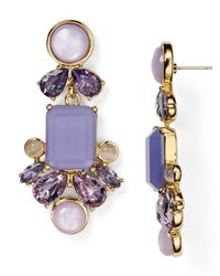 Kate Spade | Purple Glitzy Spritz Statement Earrings | Lyst