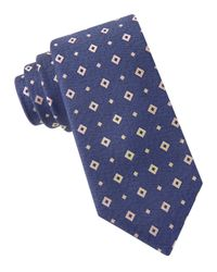 MICHAEL Michael Kors | Yellow Woven Cube Silk Tie for Men | Lyst