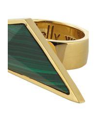 Kelly Wearstler | Green Larisa Goldplated Malachite Ring | Lyst