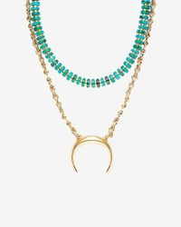 Lizzie Fortunato - Blue Convertible Snake Charmer Necklace - Lyst
