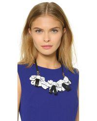 Marni - Black Leather Necklace - Diamond - Lyst