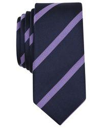 Original Penguin | Purple Bluebell Stripe Skinny Tie for Men | Lyst