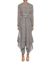 Zimmermann - Blue Floral-Print Cotton Dress  - Lyst
