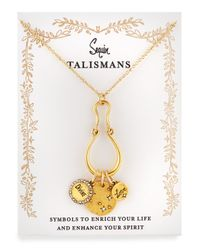 Sequin | Metallic Divine Love Talisman Charm Necklace | Lyst