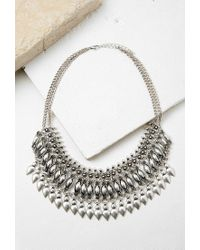Forever 21 | Metallic Teardrop Statement Necklace | Lyst