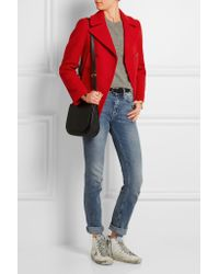 Golden Goose Deluxe Brand - Red Angelica Double-breasted Wool-blend Peacoat - Lyst