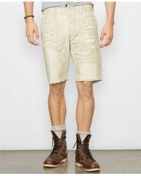 Denim & Supply Ralph Lauren - Natural Reverse Chino Twill Utility Shorts for Men - Lyst