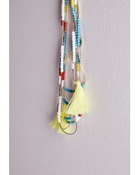 Missguided | Multicolor Beaded Layered Necklace Multi | Lyst