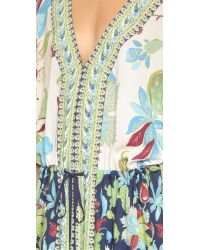 Tory Burch | Green Long Caftan | Lyst