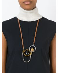 Marni - Brown Sphere Pendant Necklace - Lyst