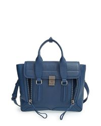 3.1 Phillip Lim | Blue 'medium Pashli' Leather Satchel | Lyst