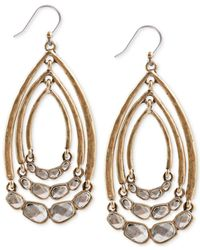 Lucky Brand - Metallic Two-tone Multi-hoop Drop Earrings - Lyst