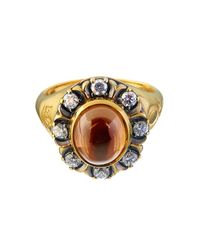 Queensbee | Gopi Ring Orange | Lyst