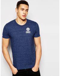 Franklin & Marshall   Blue Crew Neck T-shirt for Men   Lyst