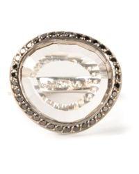 Rosa Maria - Metallic 'julia' Diamond Topaz Ring - Lyst