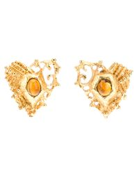 Christian Lacroix | Metallic Clip On Earrings | Lyst