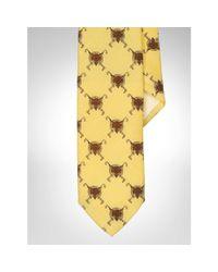 Polo Ralph Lauren | Yellow Fox Wool Challis Tie for Men | Lyst