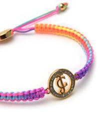 Juicy Couture | Multicolor Pave Jc Macrame Friendship Bracelet | Lyst