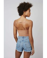 TOPSHOP - Brown Tall Strappy Back Body - Lyst