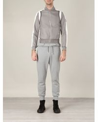 Moncler Gamme Bleu - Gray Quilted Bomber Jacket for Men - Lyst