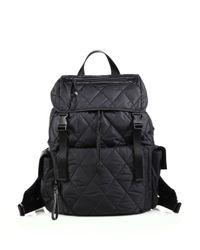 Rebecca Minkoff - Black Quilted Nylon Hiking Backpack - Lyst