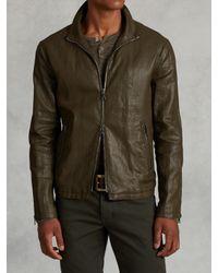 John Varvatos | Green Resin Coated Linen Jacket for Men | Lyst