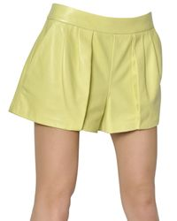 Proenza Schouler - Yellow Nappa Leather Shorts - Lyst