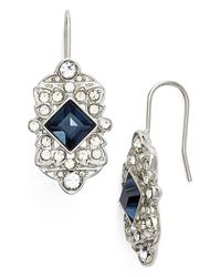 Lauren by Ralph Lauren | Blue 'deco' Drop Earrings | Lyst