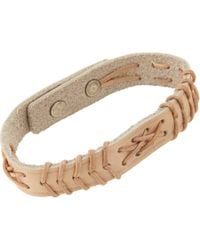 Isabel Marant - Brown Stitched Leather Cuff - Lyst